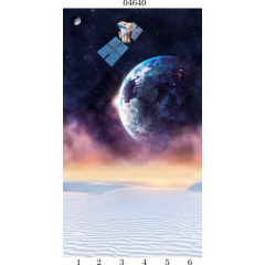 "04640 Дизайн-панели PANDA ""Космос"" Панно 6 шт"