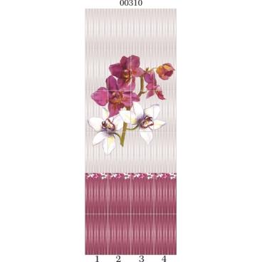"""00310 Дизайн-панели PANDA """"Дикая орхидея"""" Панно 4 шт"""