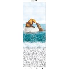 """03530 Дизайн-панели PANDA """"Море"""" Панно 4 шт"""