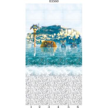 """03560 Дизайн-панели PANDA """"Море"""" Панно 6 шт"""