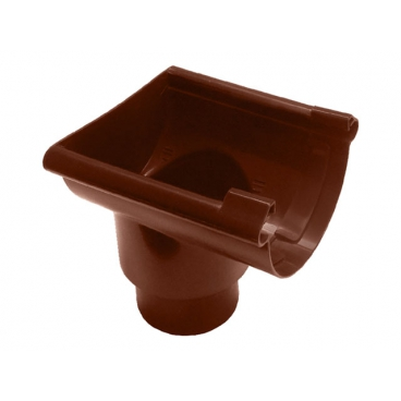 "Воронка желоба торцевая ПВХ ""MUROL"" 80/100 мм,коричневая"
