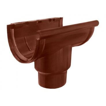 """Воронка желоба центральная ПВХ """"MUROL""""80/100 мм,коричневая"""