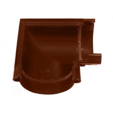 """Угол желоба ПВХ """"MUROL"""" 90 гр. 130 мм,коричневый"""
