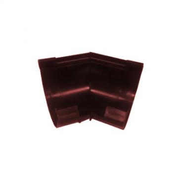 """Угол желоба ПВХ """"MUROL"""" 135 гр.130 мм,коричневый"""
