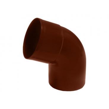 """Отвод водосточной трубы ПВХ """"MUROL"""" 67 гр. 80 мм, коричневый"""
