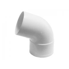 """Отвод водосточной трубы ПВХ """"MUROL"""" 67 гр. 80 мм, белый"""