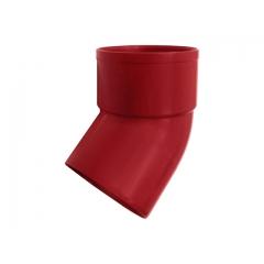 """Отвод водосточной трубы ПВХ """"MUROL"""" 45 гр. 80 мм, красный"""