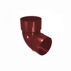 """Отвод соединения водосточной трубы ПВХ """"MUROL"""" 67 гр. 80 мм, красный"""