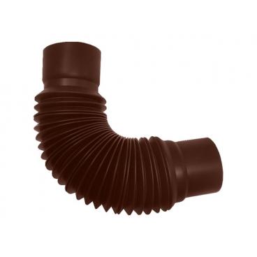 """Универсальный гибкий отвод ПВХ """"MUROL"""" 80 мм, коричневый"""