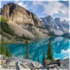 """Защитное стекло """"Озеро в горах"""" 600*600*4 мм"""