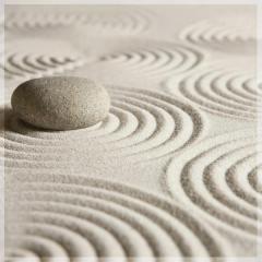 "Защитное стекло ""Рисунки на песке"" 600*600*4 мм"