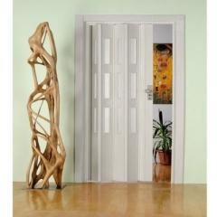 """Дверь - гармошка """"Фаворит"""" цвет Белый глянец"""