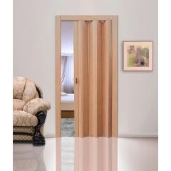 """Дверь - гармошка """"Стиль"""". Цвет Лесной орех"""