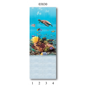 """03830 Дизайн-панели PANDA """"Подводный мир"""" Панно 4 шт"""