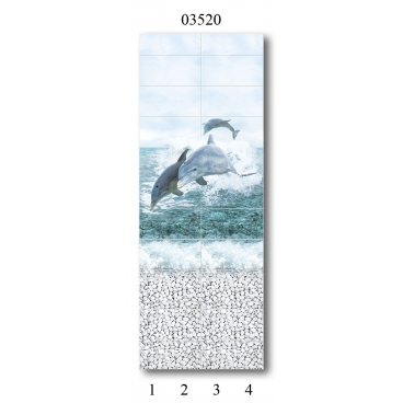 """03520 Дизайн-панели PANDA """"Море"""" Панно 4 шт"""