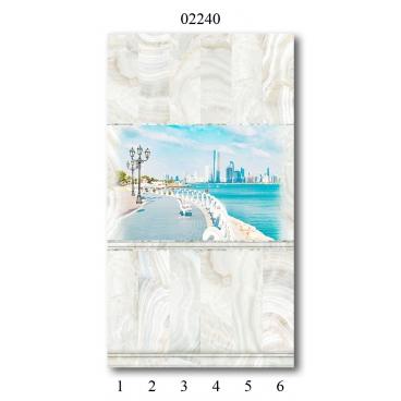 "02240 Дизайн-панели PANDA ""Оникс"" Панно 6 шт"