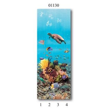 """01130 Дизайн-панели PANDA """"Подводный мир"""" Панно 4 шт"""