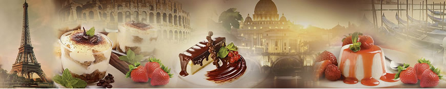 Кухонный фартук АБС Десерт в Европе