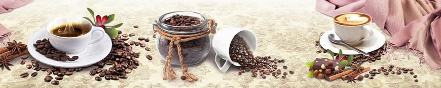 Кухонный фартук АБС Кофе с корицей