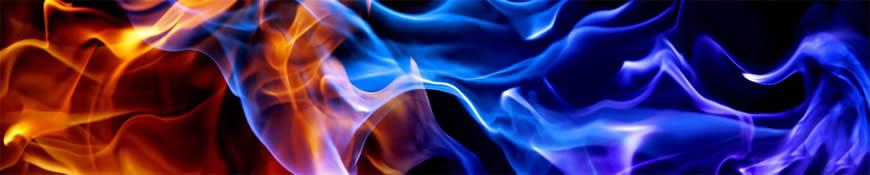 Кухонный фартук АБС Пламя