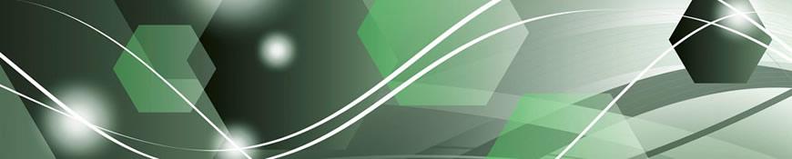 Кухонный фартук АБС Зеленая абстракция