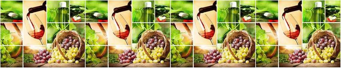 Кухонный фартук АБС Виноград
