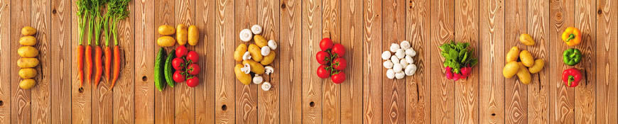 Кухонный фартук АБС Овощная лавка