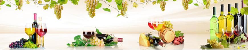 Кухонный фартук АБС Вино и виноград