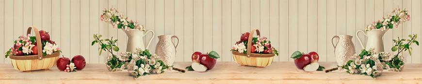 Кухонный фартук АБС Натюрморт с яблоками