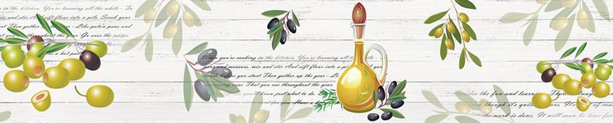 Кухонный фартук АБС Оливки с маслинами
