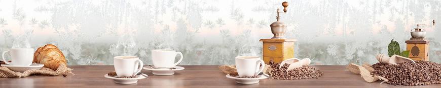 Кухонный фартук АБС Морозный кофе
