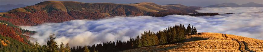 Кухонный фартук АБС Горы в облоках