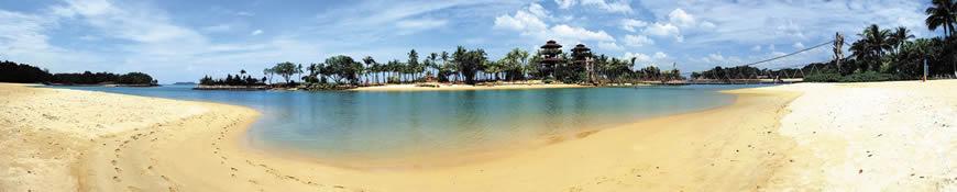 Кухонный фартук АБС Тропический пляж