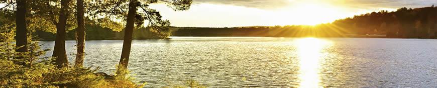 Кухонный фартук АБС Закат над озером