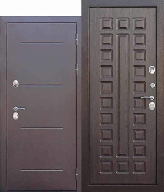 Входная дверь cтерморазрывом 11 см Isoterma МЕДНЫЙ АНТИК