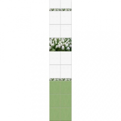 """Панель ПВХ LUX """"Тюльпаны"""" (панно, 2 панели)"""