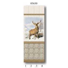 "03630 Дизайн-панели PANDA ""Вокруг света"" Панно 4 шт"