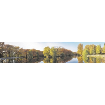 """Кухонный фартук АБС """"Осень в парке"""""""