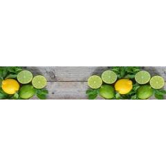 "Кухонный фартук АБС ""Лимоны и лайм"""
