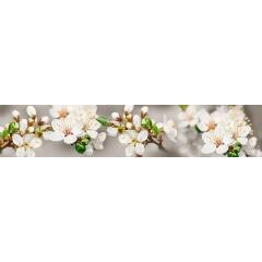 """Кухонный фартук АБС """"Белые цветы"""""""