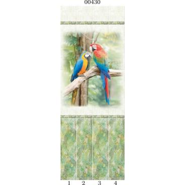"""00430 Дизайн-панели PANDA """"Тропики"""" Панно 4 шт"""