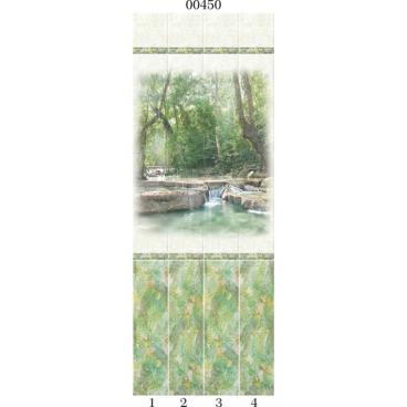 """00450 Дизайн-панели PANDA """"Тропики"""" Панно 4 шт"""