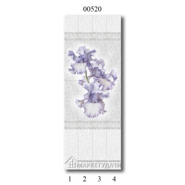 """00520 Дизайн-панели PANDA """"Белые кружева"""" Панно 4 шт"""