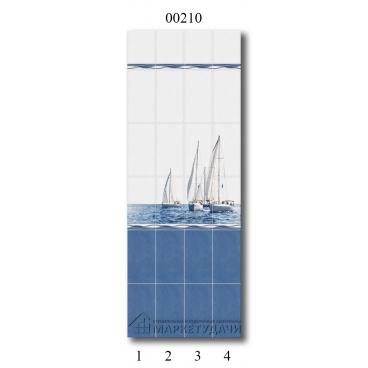 "00210 Дизайн-панели PANDA ""Морской бриз"" Панно 4 шт"