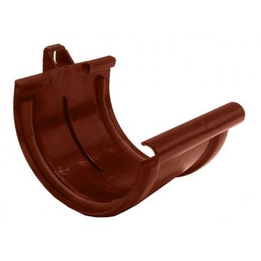 "Соединение желоба ПВХ ""MUROL""130 мм, коричневый"