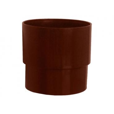 """Муфта водосточной трубы ПВХ """"MUROL"""" 80 мм, коричневая"""