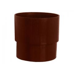 """Муфта водосточной трубы ПВХ """"MUROL"""" 100 мм, коричневая"""
