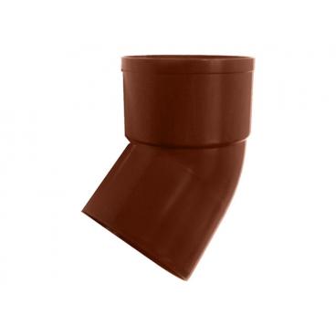 """Отвод водосточной трубы ПВХ """"MUROL"""" 45 гр. 80 мм, коричневый"""