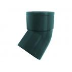 """Отвод водосточной трубы ПВХ """"MUROL"""" 45 гр. 80 мм, зеленый"""