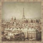 """Защитное стекло """"Вид на Париж"""" 600*600*4 мм"""